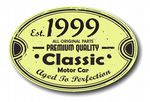 Distressed Aged Established 1999 Aged To Perfection Oval Design For Classic Car External Vinyl Car Sticker 120x80mm
